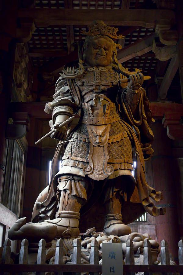 Manga Photograph - Komokuten Guardian King - Nara Japan by Daniel Hagerman