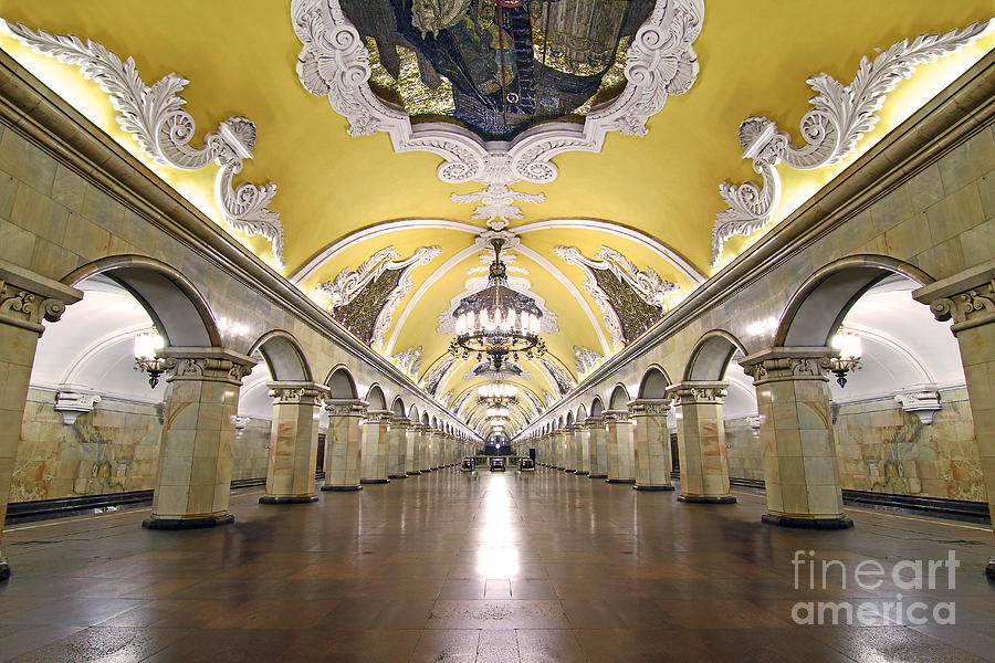 Komsomolskaya Photograph - Komsomolskaya Station In Moscow by Lars Ruecker