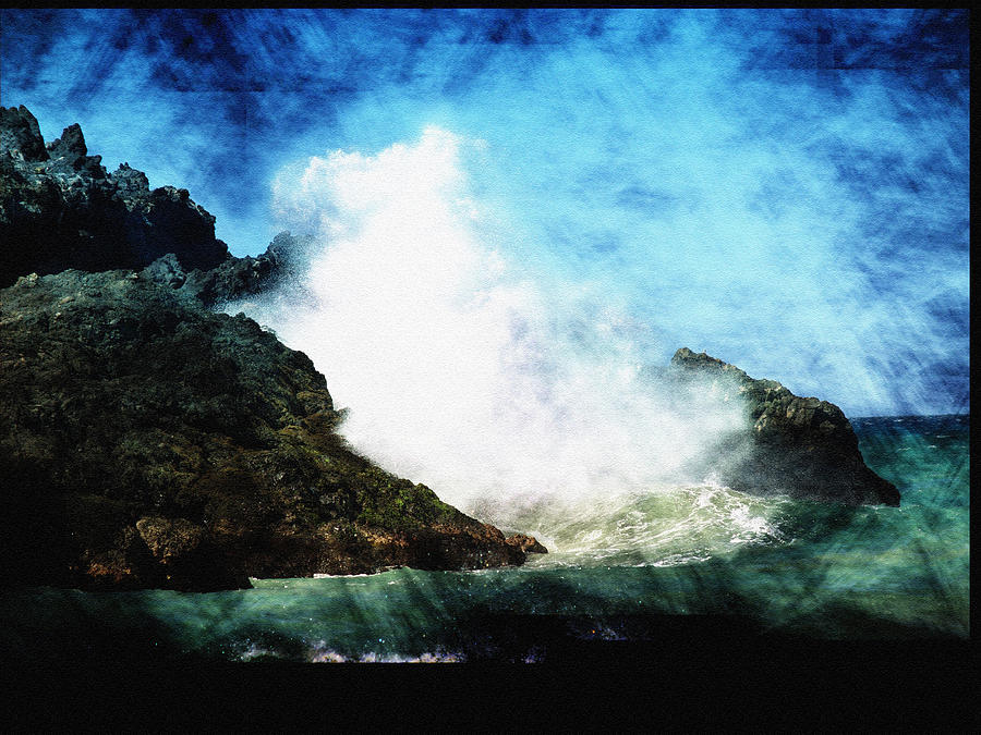 Ocean Photograph - Kona Sea by Athala Carole Bruckner