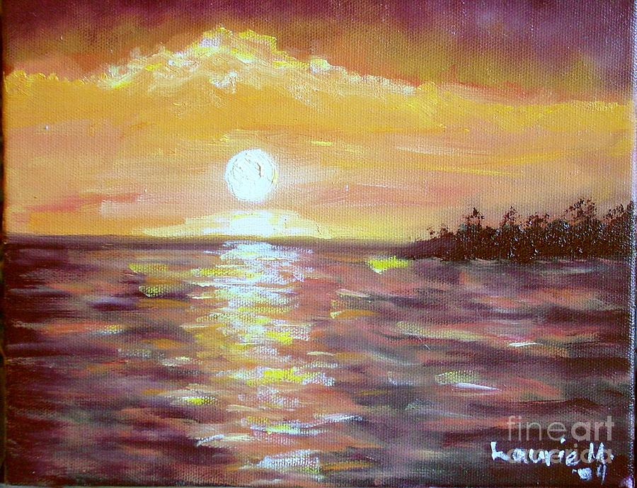 Sunset Painting - Kona Sunset by Laurie Morgan