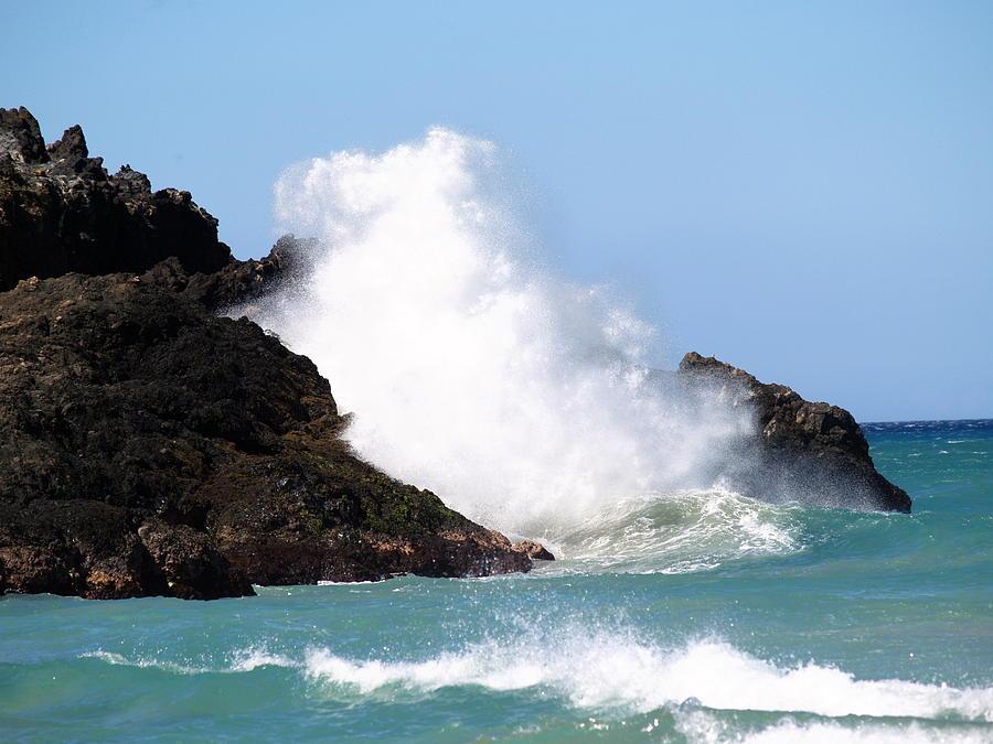 Ocean Photograph - Kona Wave by Athala Carole Bruckner