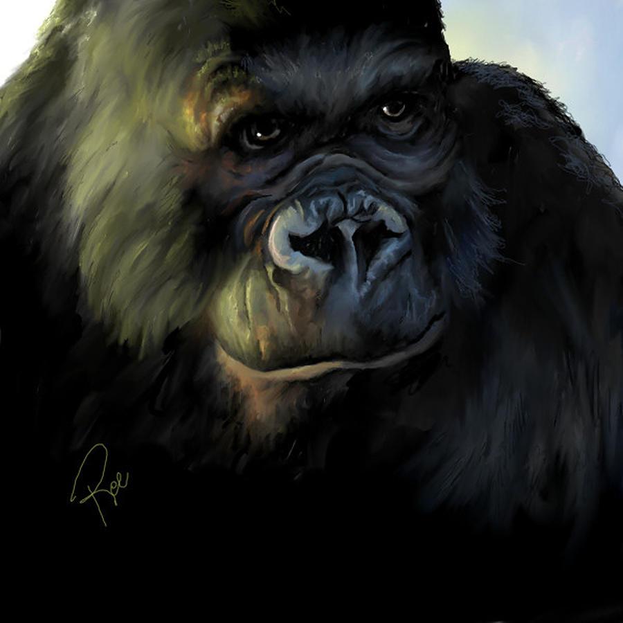King Kong Digital Art - Kong by Maria Schaefers