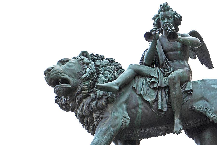 Lion Sculpture Photograph - Konzerthaus Berlin - Lion Sculpture  by Ankeeta Bansal