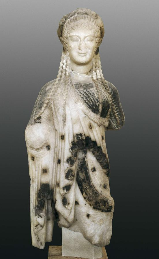 Kore Ca 510 Bc Archaic Greek Art Photograph By Everett