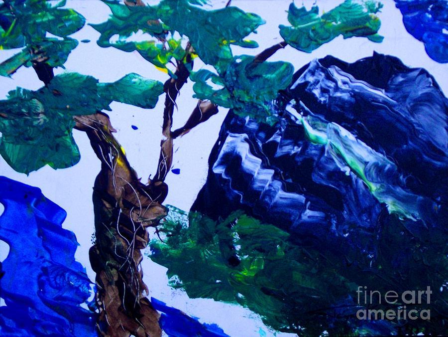 Korean Mountain Canvas Print Painting - Korean Mountain by Jayne Kerr