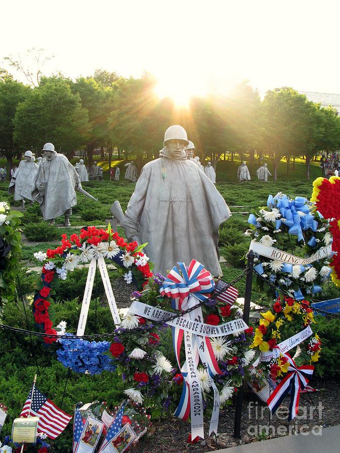 Korean Photograph - Korean War Memorial In Dc by Olivier Le Queinec