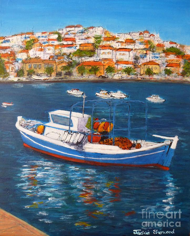 Koroni Harbour Greece by Jackie Sherwood
