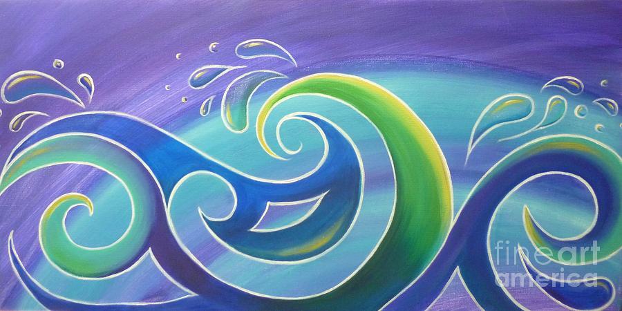 Surf Painting - Koru Surf by Reina Cottier