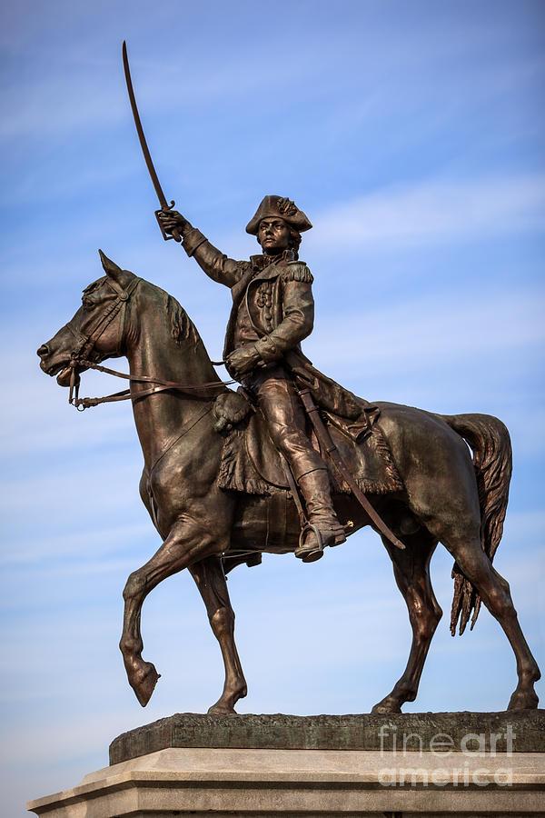 Kosciuszko Horse Statue In Chicago Photograph