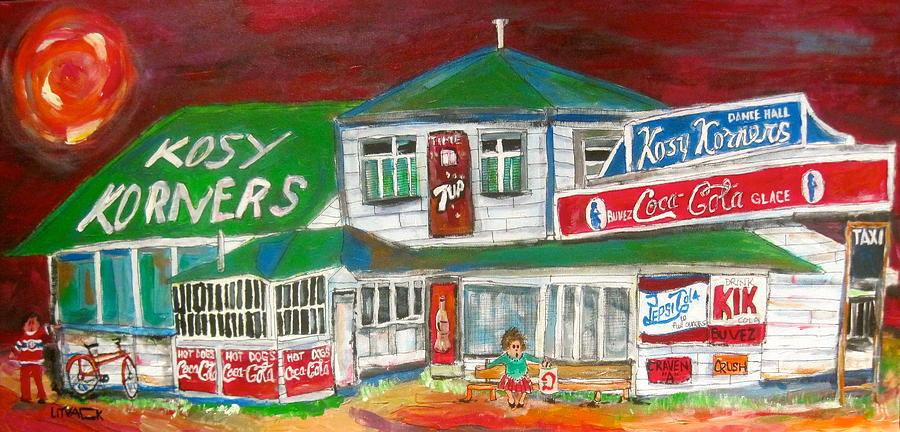 1940's Painting - Kosy Korners Plage Laval by Michael Litvack