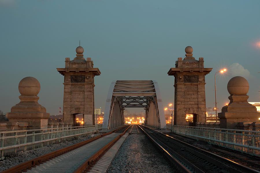 Krasnoluzhsky Rail Bridge Photograph by Alexey Bubryak