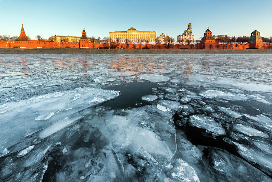 Kremlin From Across Moskva River Photograph by Mordolff