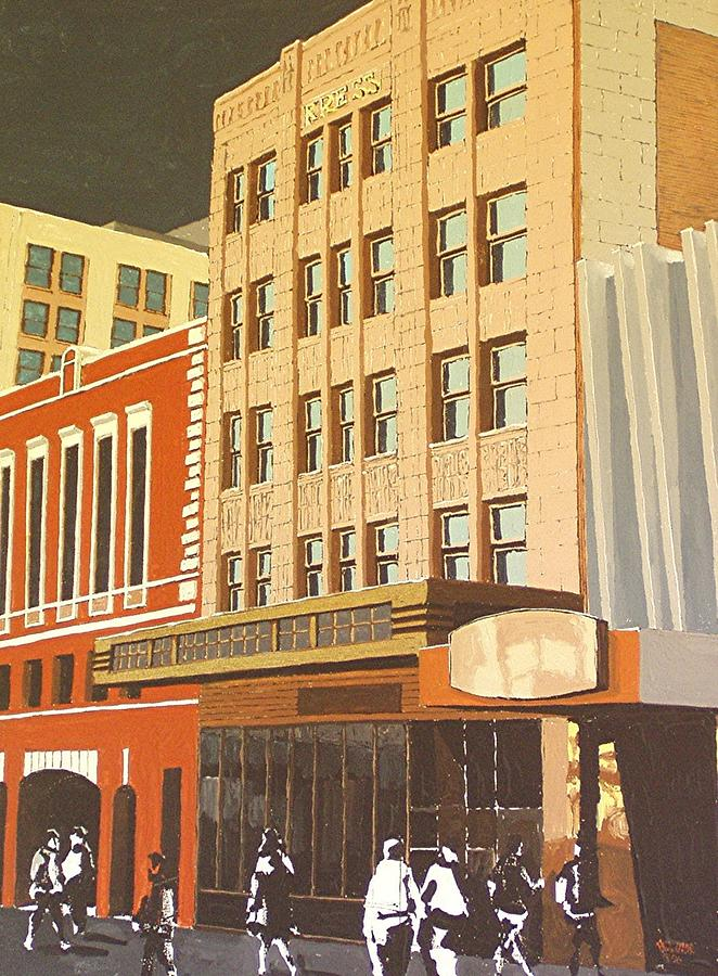 Sacramento Painting - Kress On K Street by Paul Guyer