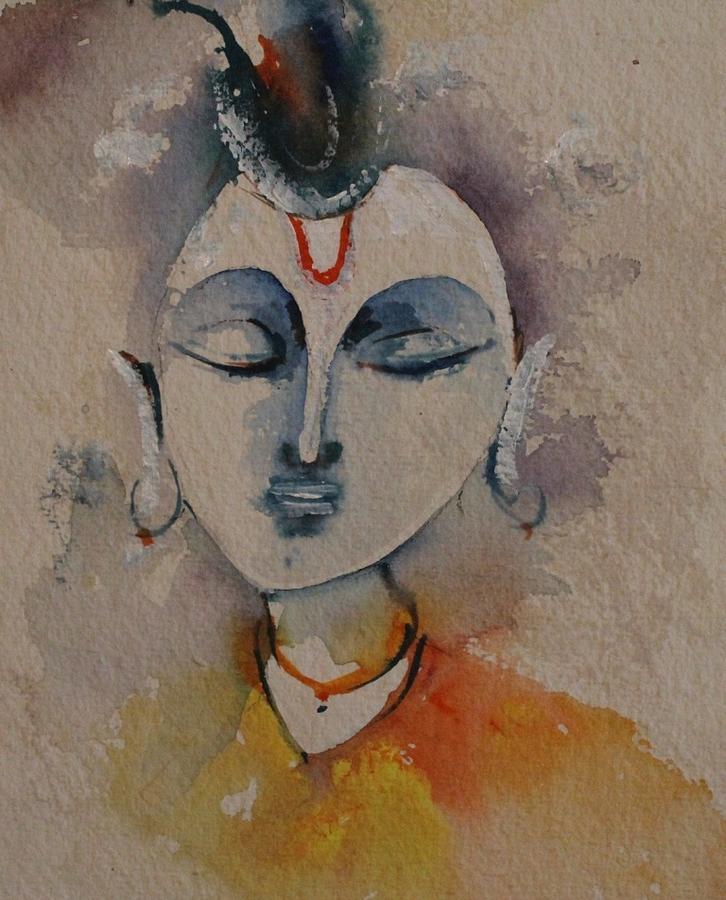 Paintings Painting - Krishna 1111 by Sir