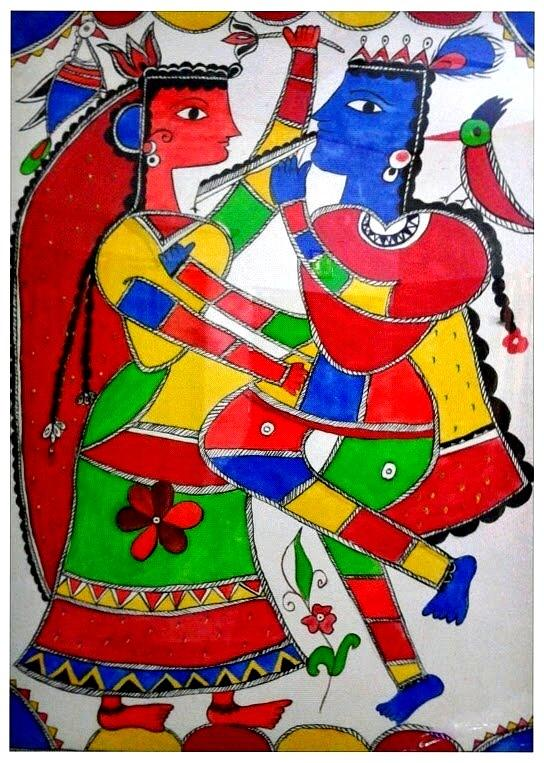 Krishna Painting - Krishna And Radha by Shruti Prasad