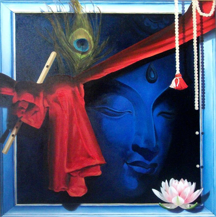 Krishna Paintings Modern Art On Canvas