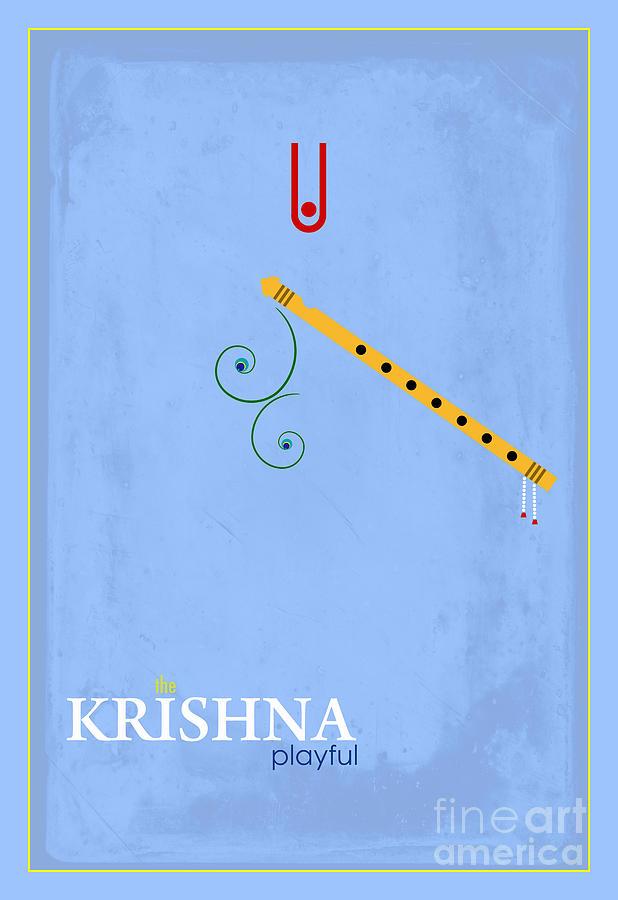 Krishna The Playful Digital Art - Krishna The Playful by Tim Gainey
