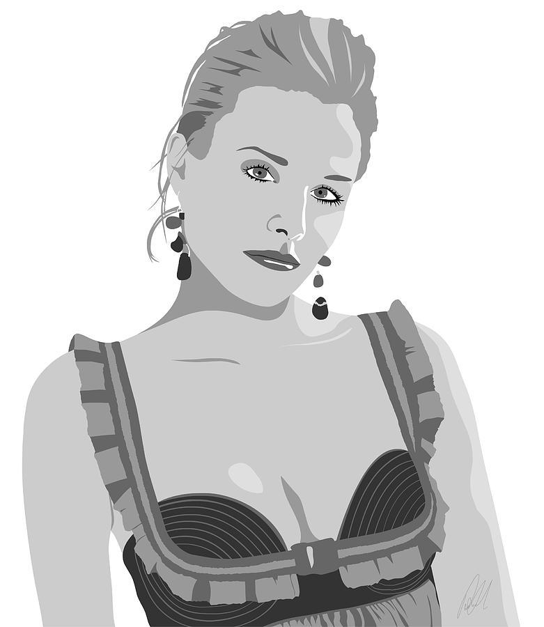 Sexy Digital Art - Kristen Bell by Paul Dunkel