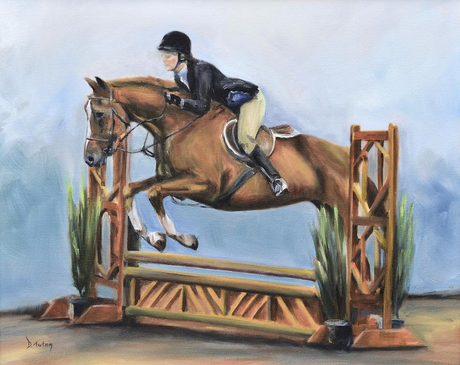 Horse Painting - Kristin And Baghdad by Donna Tuten