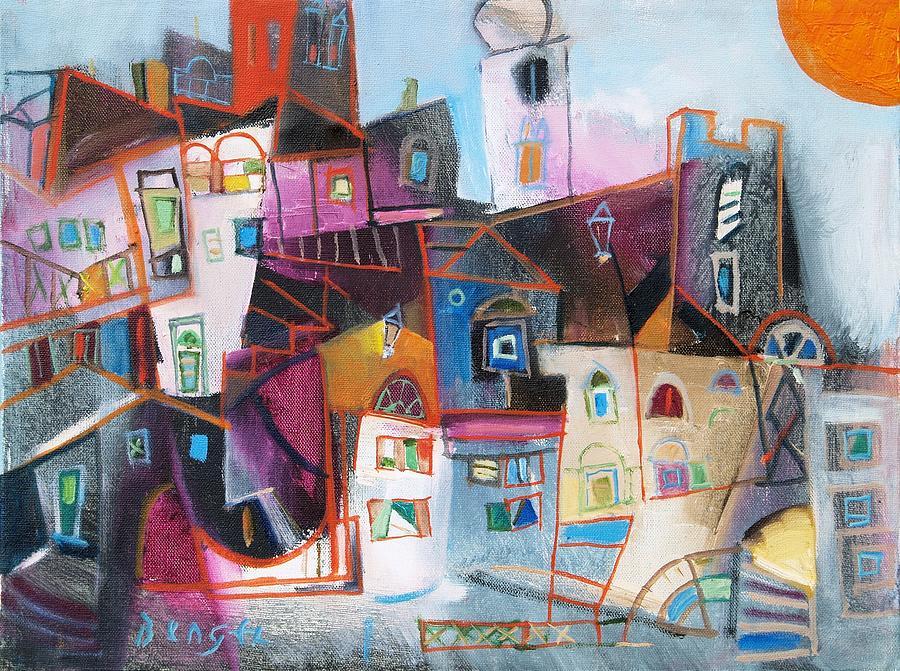 Oil Painting - Krk by Miljenko Bengez