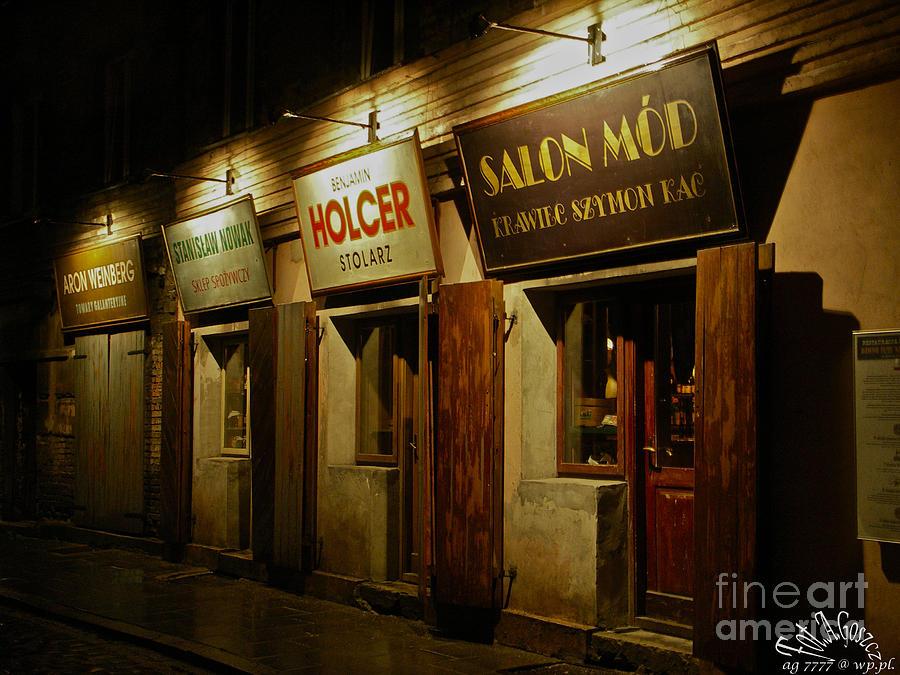 Kroke - Kazimierz - Krakow - Gesher Galicia - Shalom. .the Jewish Life In Krakow. Viewed 224 Times  Photograph by  Andrzej Goszcz
