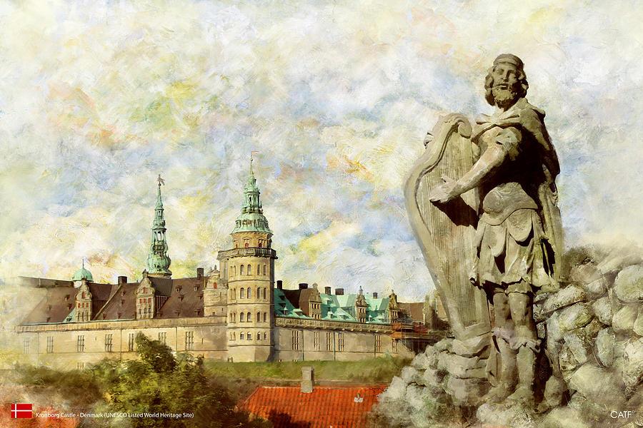 Denmark Art Painting - Kronborg Castle by Catf