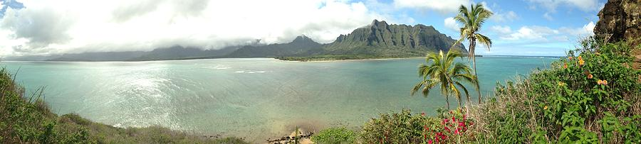 Kauai Photograph - Kualua Kauai Panoramic by Tropigallery -