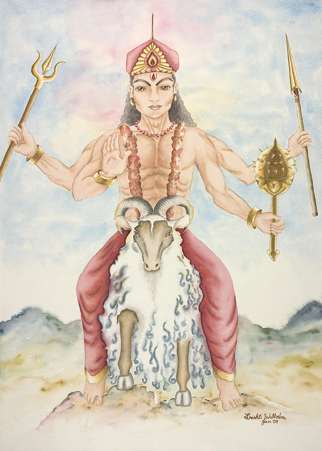 Vedic Astrology Painting - Kuja Mars by Srishti Wilhelm