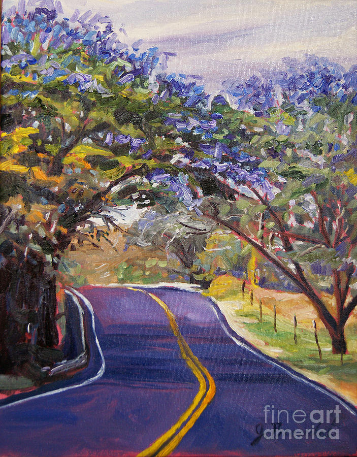 Trees Painting - Kula Cruising by Jennifer Beaudet