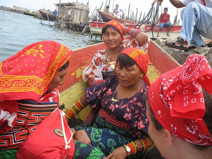 Panama Photograph - Kuna Yala Women by Daniel  Taylor