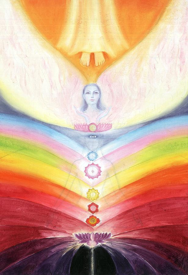 Kundalini Painting - Kundalini Awakening By The Descent Of The Truth Consciousness by Shiva Vangara