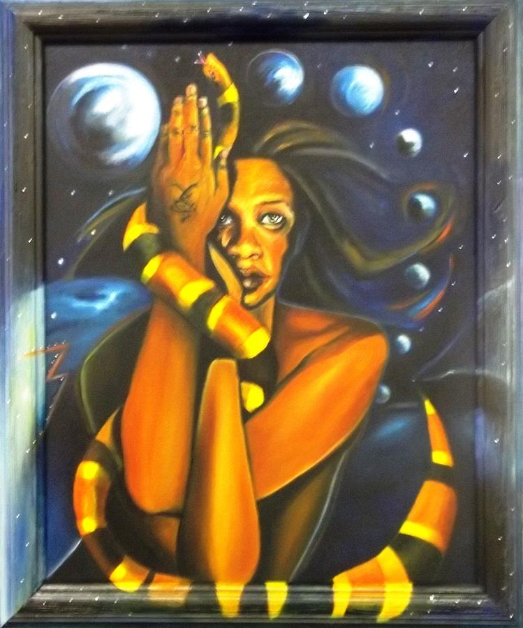 Yoga Painting - Kundalini Rising by Joyce McEwen Crawford