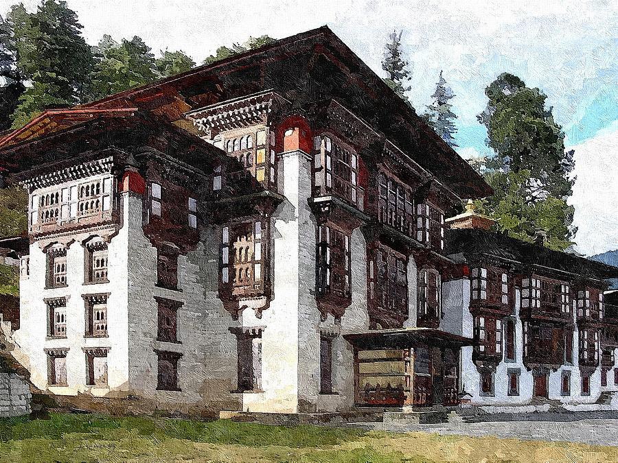 Bumthang Painting - Kurjey Monastery by Maciek Froncisz