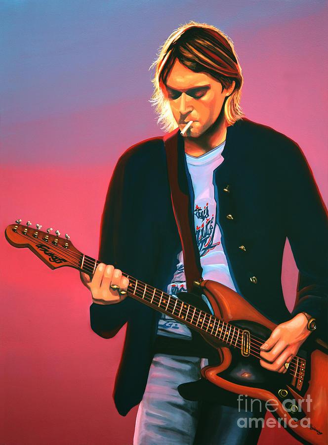 Kurt Cobain Painting - Kurt Cobain in Nirvana Painting by Paul Meijering