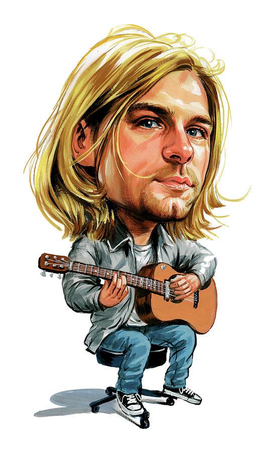 Kurt Cobain Painting - Kurt Cobain by Art
