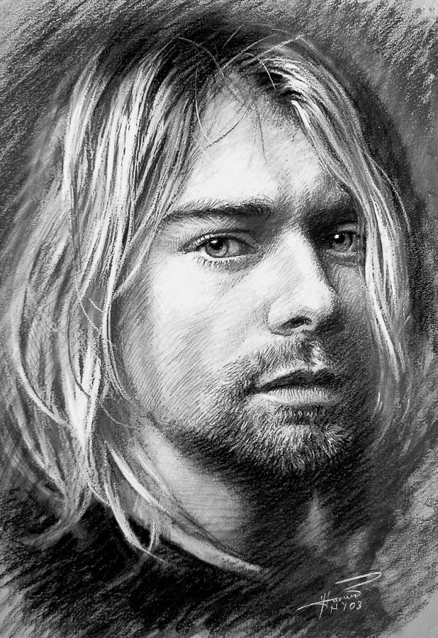 It is a picture of Amazing Drawing Of Kurt Cobain