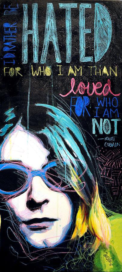 Portrait Painting - Kurt Cobain by Erica Falke