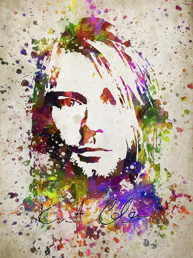 Kurt Cobain In Color Digital Art