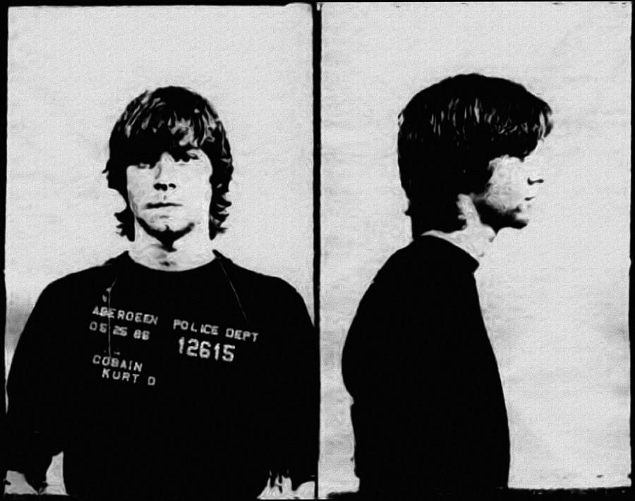 Nirvana Photograph - Kurt Cobain Mugshot by Bill Cannon
