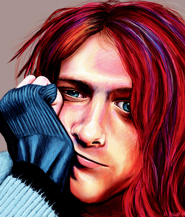 Kurt Painting - Kurt Cobain by Shawna Rowe