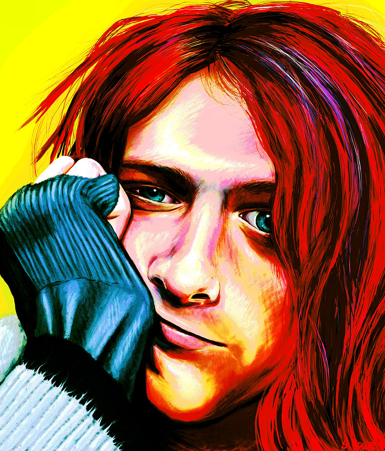 Kurt Cobain Ultra Color Version Digital Art By Shawna Rowe