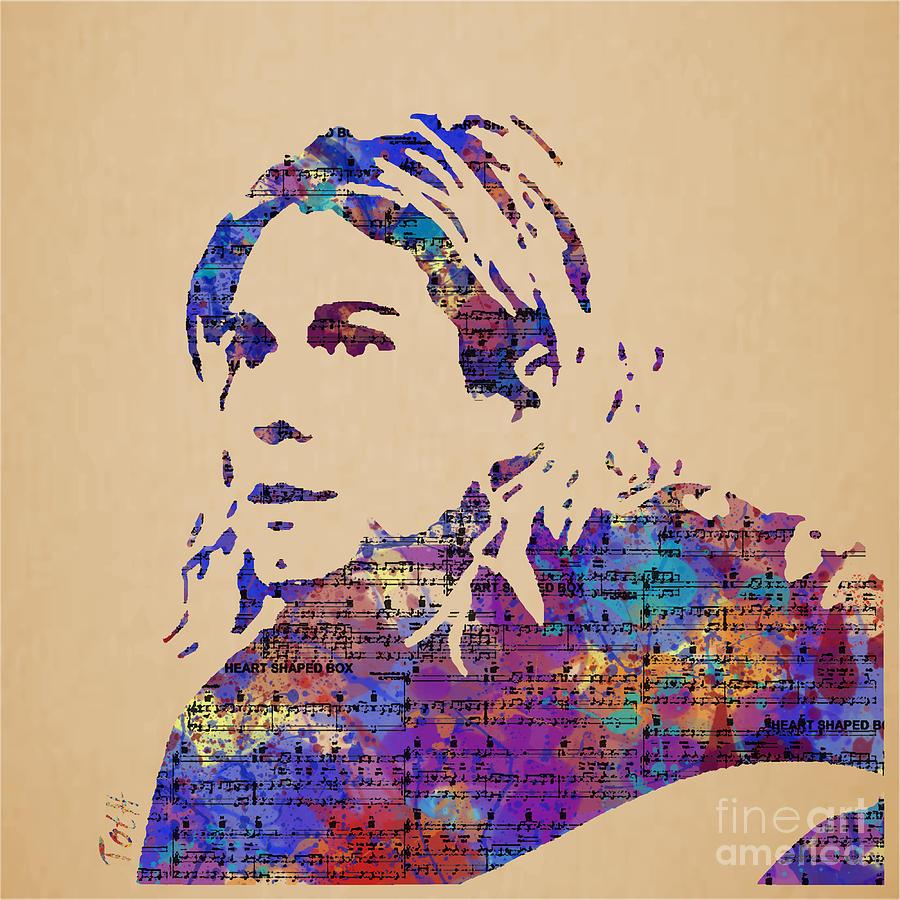Kurt Cobain Watercolor Painting by Laura Toth