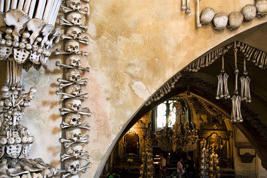 Ossuary Photograph - Kutna Hora Bone Church by Joanna Madloch