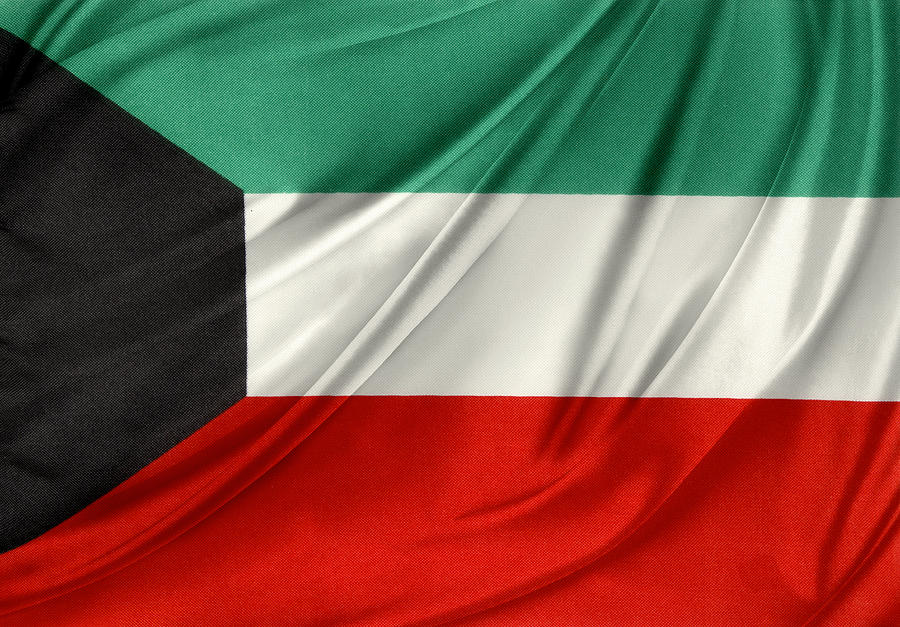 Flag Photograph - Kuwait Flag  by Les Cunliffe