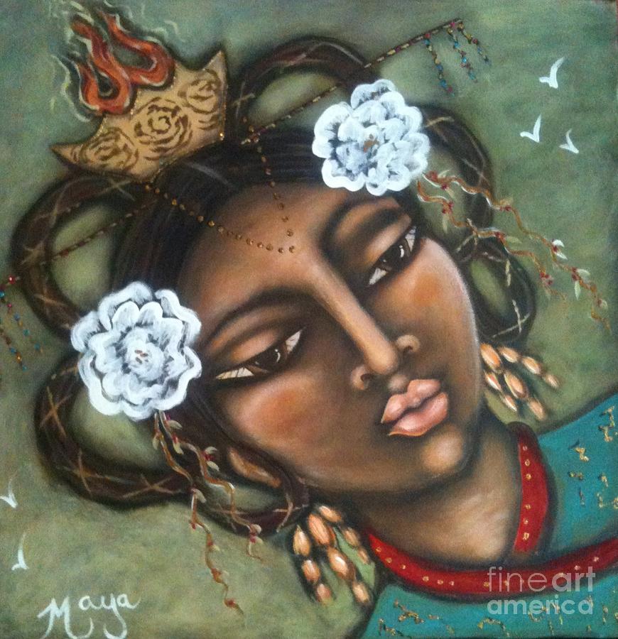 Chinese Painting - Kwan Yin by Maya Telford
