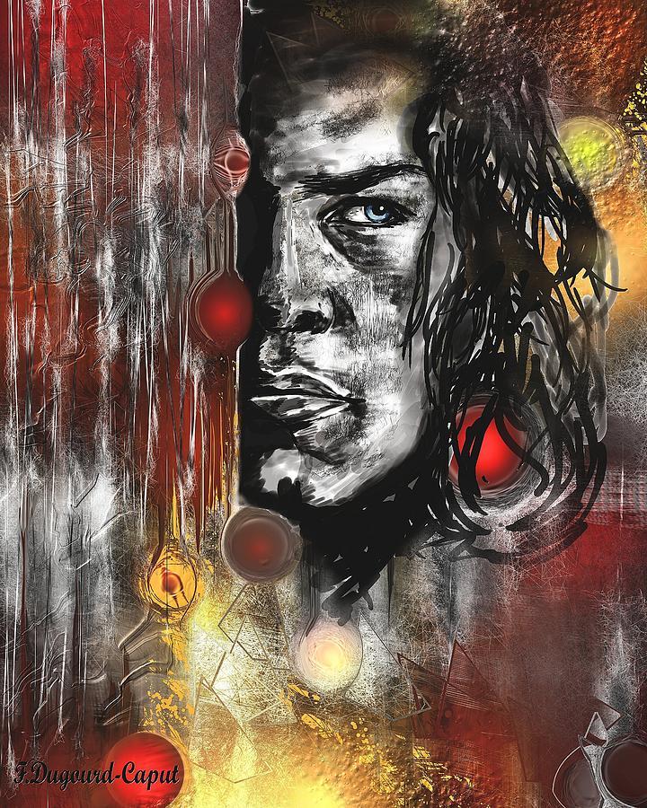 Portrait Painting - Kyle by Francoise Dugourd-Caput