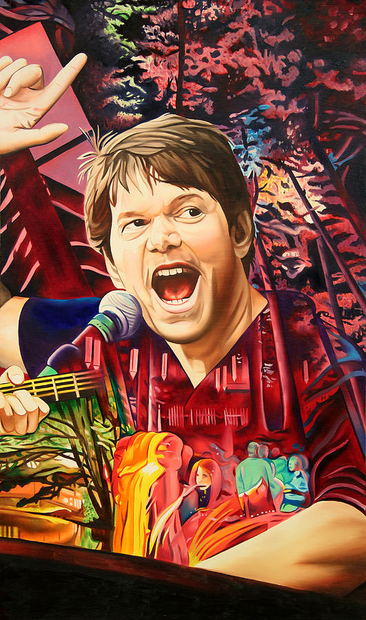 The String Cheese Incident Painting - Kyle Hollingsworth At Hornings Hideout by Joshua Morton