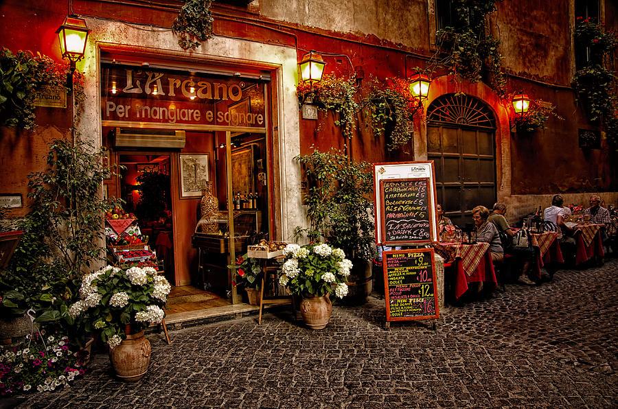 L Arcano Restaurant Rome Italy Photograph By Jon Berghoff