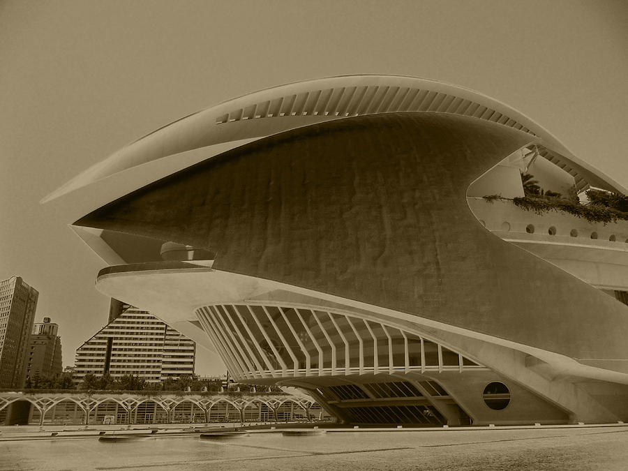 Attraction Photograph - L Hemisferic - Valencia by Juergen Weiss