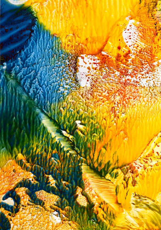 Encaustic Painting - L Intrus by Anne-Marie Coadebez